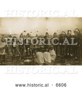 Historical Photo of Sioux Indians 1891 - Sepia by Al
