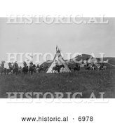 December 13th, 2013: Historical Photo of Sioux Indians near a Tipi 1907 - Black and White by Al