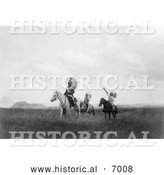 December 13th, 2013: Historical Photo of Sioux Indians on Horses 1905 - Black and White by Al
