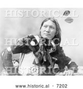 December 13th, 2013: Historical Photo of Sioux Man Called Sunflower 1899 - Black and White by Al