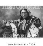 December 13th, 2013: Historical Photo of Sioux Man Named Eddie Plenty Holes 1899 - Black and White by Al