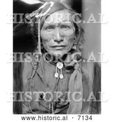 December 13th, 2013: Historical Photo of Sioux Native American Indian, Iron White Man 1900 - Black and White by Al