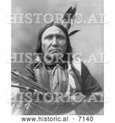 December 13th, 2013: Historical Photo of Sioux Native American Man, Bear Foot 1899 - Black and White by Al