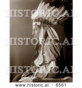 Historical Photo of Sioux Native American Man Named Whirling Hawk 1900 by Al