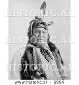 December 13th, 2013: Historical Photo of Sioux Native American, Rain-In-The-Face 1893 - Black and White by Al