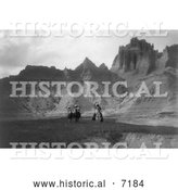 December 13th, 2013: Historical Photo of Sioux on Horses, Bad Lands 1905 - Black and White by Al