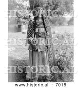 December 13th, 2013: Historical Photo of Sioux Woman 1908 - Black and White by Al