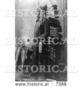 December 13th, 2013: Historical Photo of Sitting Bull in Feathered Headdress 1888 - Black and White by Al