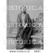 Historical Photo of Sitting Bull's Son, Crow Foot (Hunkpapa) - Native American Indian - Black and White Version by Al