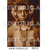 Historical Photo of Sitting Eagle, a Crow Indian Man 1905 - Sepia by Al