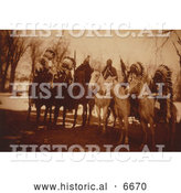 Historical Photo of Six Tribal Leaders 1900 by Al