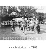 December 13th, 2013: Historical Photo of Skidi and Wichita Indian Dancers 1927 - Black and White by Al