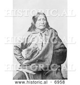 December 13th, 2013: Historical Photo of Spotted Tail, Brule American Indian - Black and White by Al