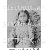 Historical Photo of Standing Holy, Daughter of Sitting Bull 1885 - Black and White by Al