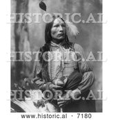 December 13th, 2013: Historical Photo of Stars Come Out, Sioux Indian 1899 - Black and White by Al
