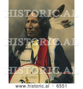 Historical Photo of Strikes with Nose, a Native American Oglala Sioux Chief by Al
