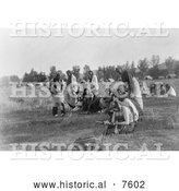 Historical Photo of Sun Dance Ceremony, Cheyenne Indians 1910 - Black and White by Al