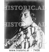 December 13th, 2013: Historical Photo of Survivor of the Custer Massacre, Curly 1907 - Black and White by Al