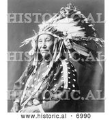 December 13th, 2013: Historical Photo of Susie Shot in the Eye, Sioux Indian 1899 - Black and White by Al