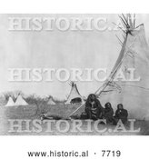 Historical Photo of Ta-Her-Ye-Qua-Hip 1873 - Black and White by Al