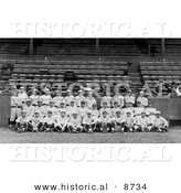 Historical Photo of Team Portrait of the New York Yankees, 1921 - Black and White Version by Al