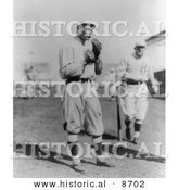 Historical Photo of the Brooklyn Dodgers Baseball Team Outfielder, Zach Wheat - Black and White Version by Al