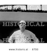 Historical Photo of the Great Bambino, Babe Ruth, of the Boston Red Sox - Black and White Version by Al