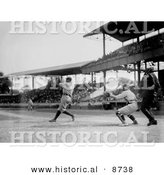 Historical Photo of the Sultan of Swat, Babe Ruth, Batting in 1920 - Black and White Version by Al