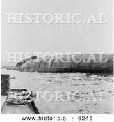 Historical Photo of the USS Utah Battleship Wreckage - Black and White Version by Al