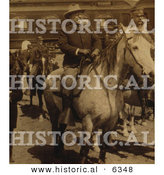 Historical Photo of Theodore Roosevelt Riding a Horse at Yellowstone Park - Sepia Toned Version by Al