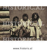 Historical Photo of Three Kootenai Men 1861 - Sepia by Al