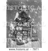 Historical Photo of Tluwulahu Costume 1914 - Black and White by Al
