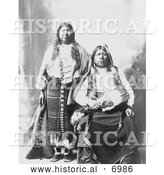 December 13th, 2013: Historical Photo of Tonkawa Indians, Grant Richards and Wife - Black and White by Al