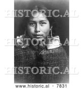 Historical Photo of Tsawatenok Girl 1914 - Black and White by Al