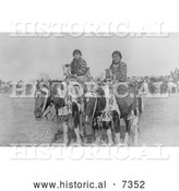 December 13th, 2013: Historical Photo of Two Crow Indian Girls on Horseback 1906 - Black and White by Al