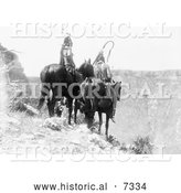 December 13th, 2013: Historical Photo of Two Crow Indians, Packs the Hat and Which Way 1908 - Black and White by Al