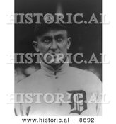 Historical Photo of Ty Cobb, Baseball Player of the Detroit Tigers - Black and White Version by Al