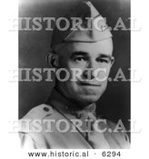 Historical Photo of U.S. Military Portrait: Omar Nelson Bradley - Black and White Version by Al