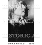 Historical Photo of Vash Gon, Jicarilla Man - Native American Indian - Black and White Version by Al