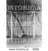 December 13th, 2013: Historical Photo of Wichita Indian Grass House Interior - Black and White by Al