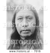 December 13th, 2013: Historical Photo of Wichita Indian Woman's Face - Black and White by Al
