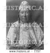 Historical Photo of Wife of Mnainak 1910 - Black and White by Al