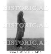 December 13th, 2013: Historical Photo of Yellow Owl a Hidatsa Native American 1908 - Black and White by Al
