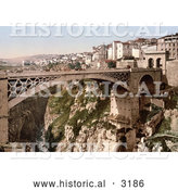 Historical Photochrom of a Bridge, Constantine, Algeria by Al