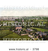 Historical Photochrom of a Cityscape with the Cathedral in Hereford West Midlands England UK by Al