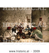 Historical Photochrom of a Food Vendor in Tunisia by Al