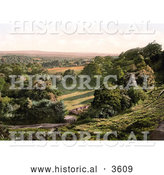 Historical Photochrom of a Gated Driveway and Fence in Happy Valley of Royal Tunbridge Wells Kent England UK by Al