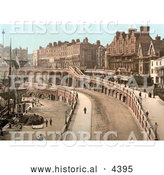 Historical Photochrom of a Tall Ship Docked by the New Road in Ramsgate, Thanet, Kent, England by Al