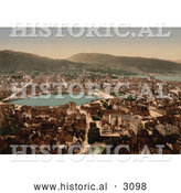 Historical Photochrom of Bergen by Al