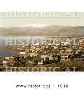 Historical Photochrom of Beyrout and Mount Lebanon by Al